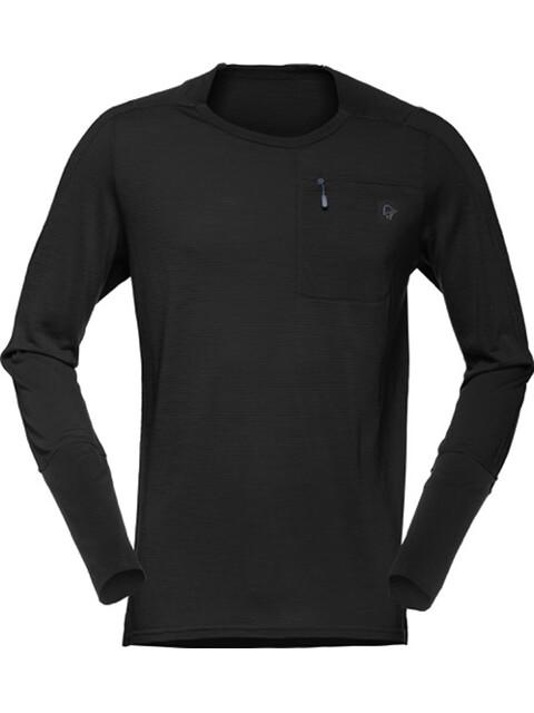 Norrøna Skibotn Wool Equaliser Long Sleeve Shirt Men Caviar